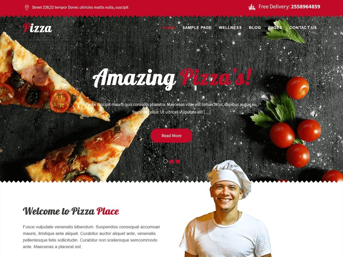 Pizza Lite company WordPress theme