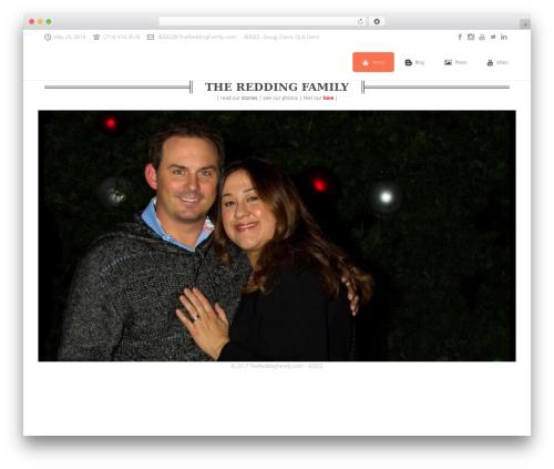 Best WordPress theme Jupiter - thereddingfamily.com