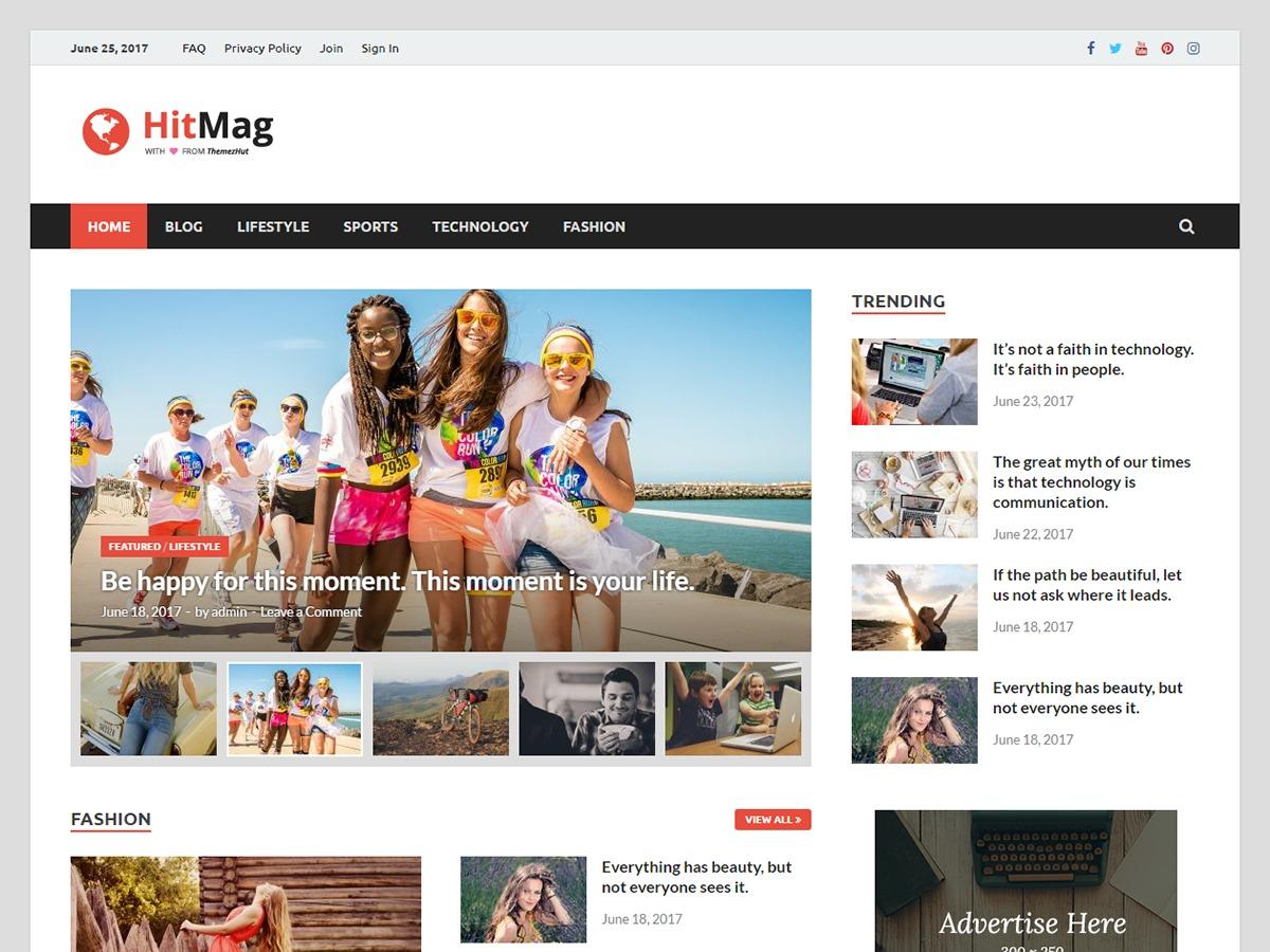 HitMag WordPress magazine theme