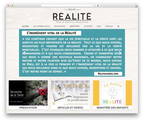 Jupiter WordPress theme - egliserealite.com