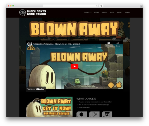 X theme WordPress - blownawaythegame.com