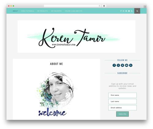 Child Theme WordPress blog template - kerentamir.com