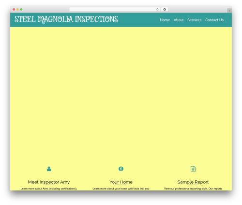 Pinnacle theme WordPress - steelmagnoliainspections.com