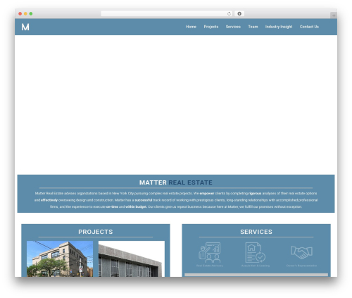 Sydney WordPress template free download - matterre.com