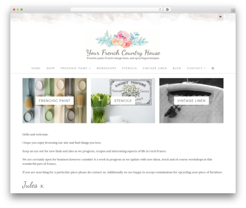 WP template Hallie Child Theme - yourfrenchcountryhouse.com