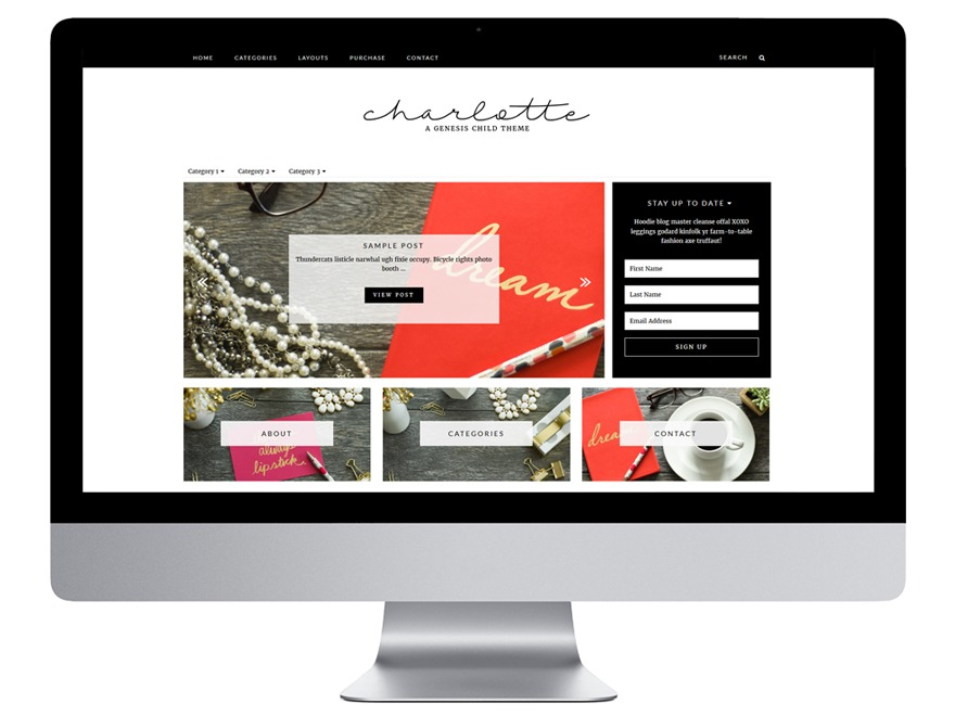 Charlotte WordPress theme