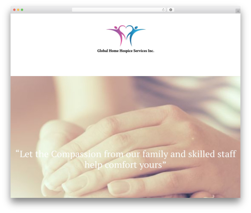 Chester WordPress theme design - globalhomehospice.com