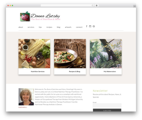 Genesis premium WordPress theme - donnalutsky.com