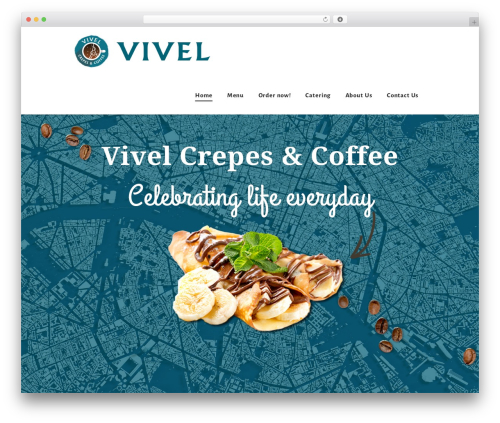 Hot Coffee WordPress page template - vivelcrepes.com