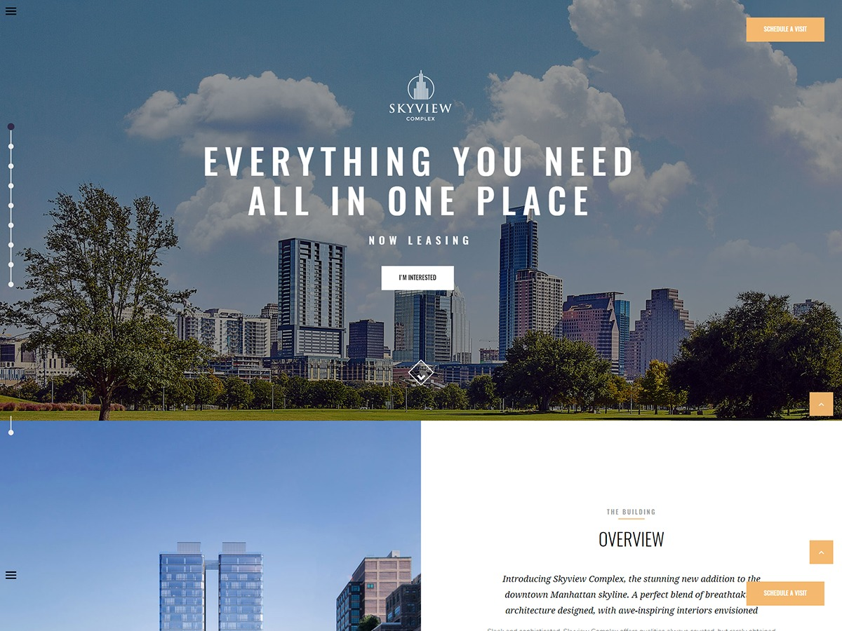 skyviewcomplex WordPress shop theme