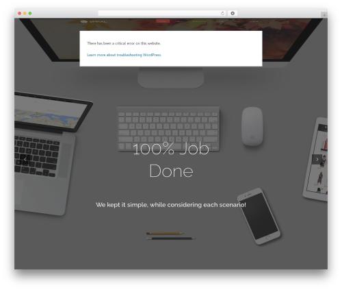 Spiral WordPress website template - denxetta.com
