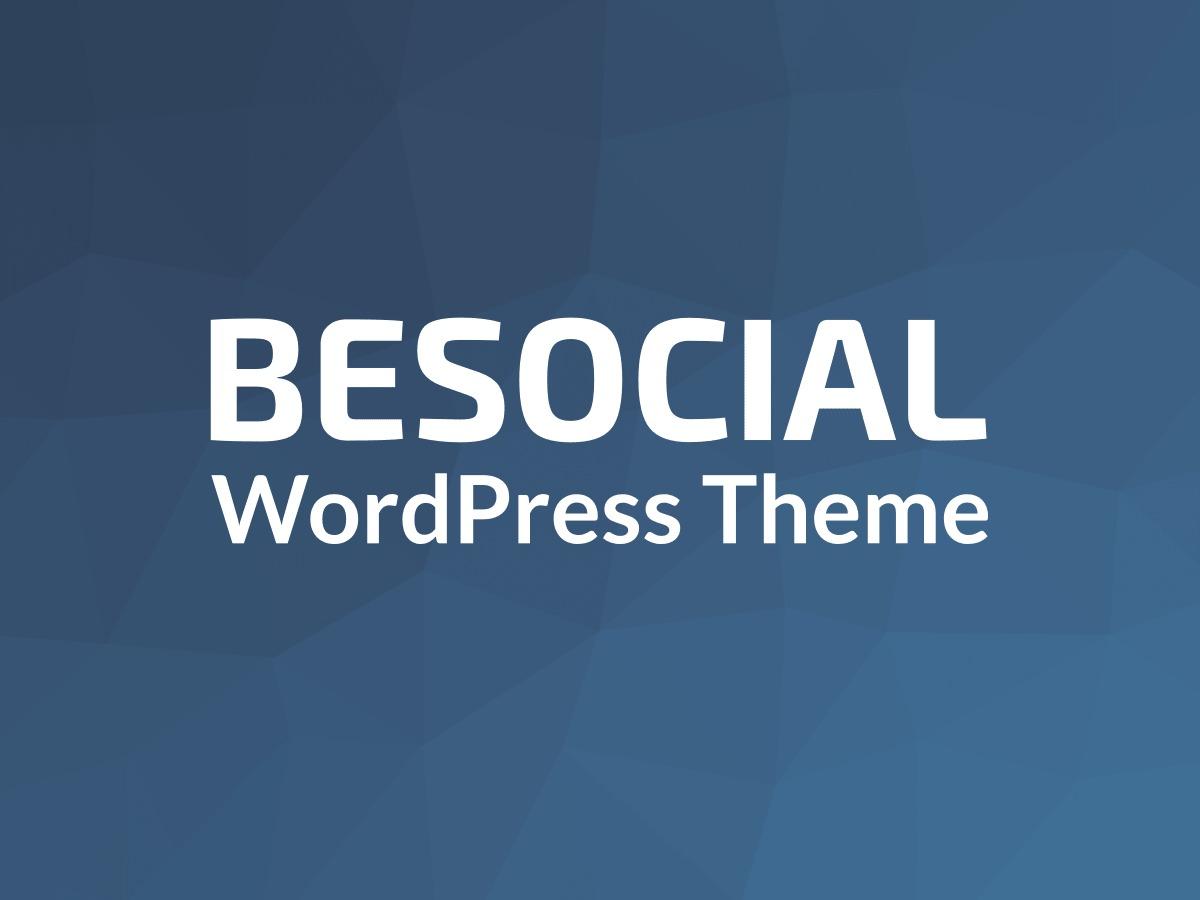 BeSocial WordPress theme