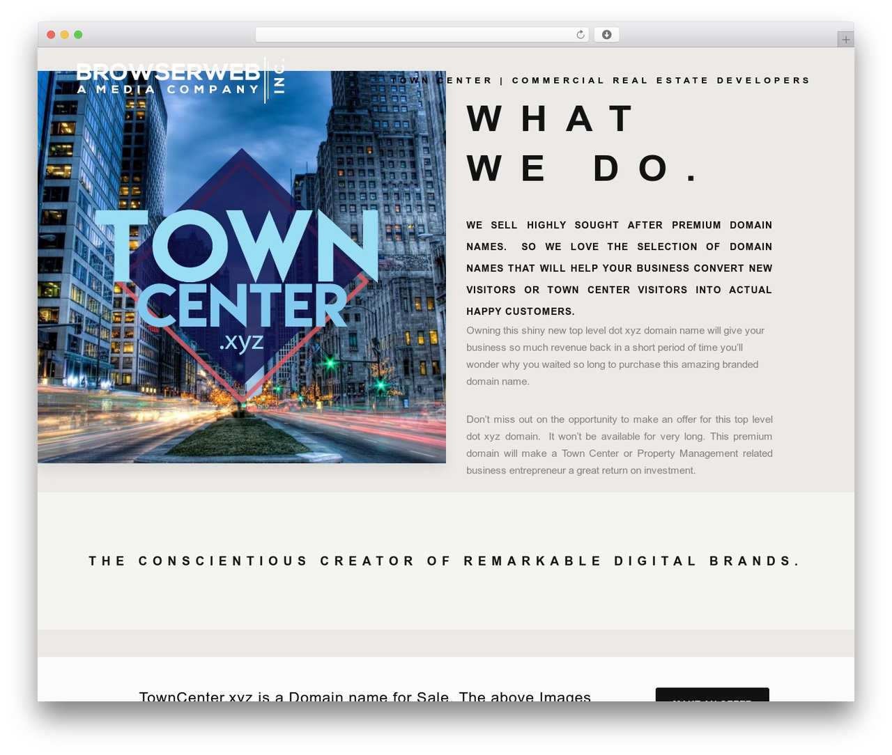 Bridge WordPress website template - towncenter.xyz