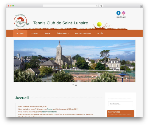 Coller best free WordPress theme - tennisclub-saint-lunaire.fr