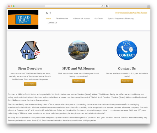 Customizr free WP theme - triadhomesrealty.com