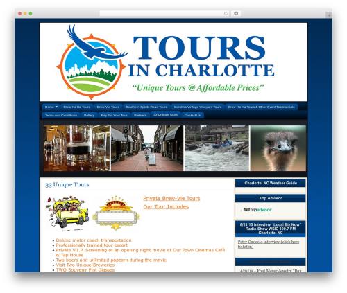 Flexibility3 WordPress travel theme - toursincarolina.com