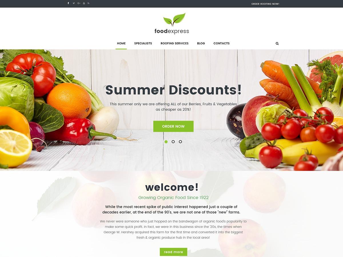 FoodExpress food WordPress theme