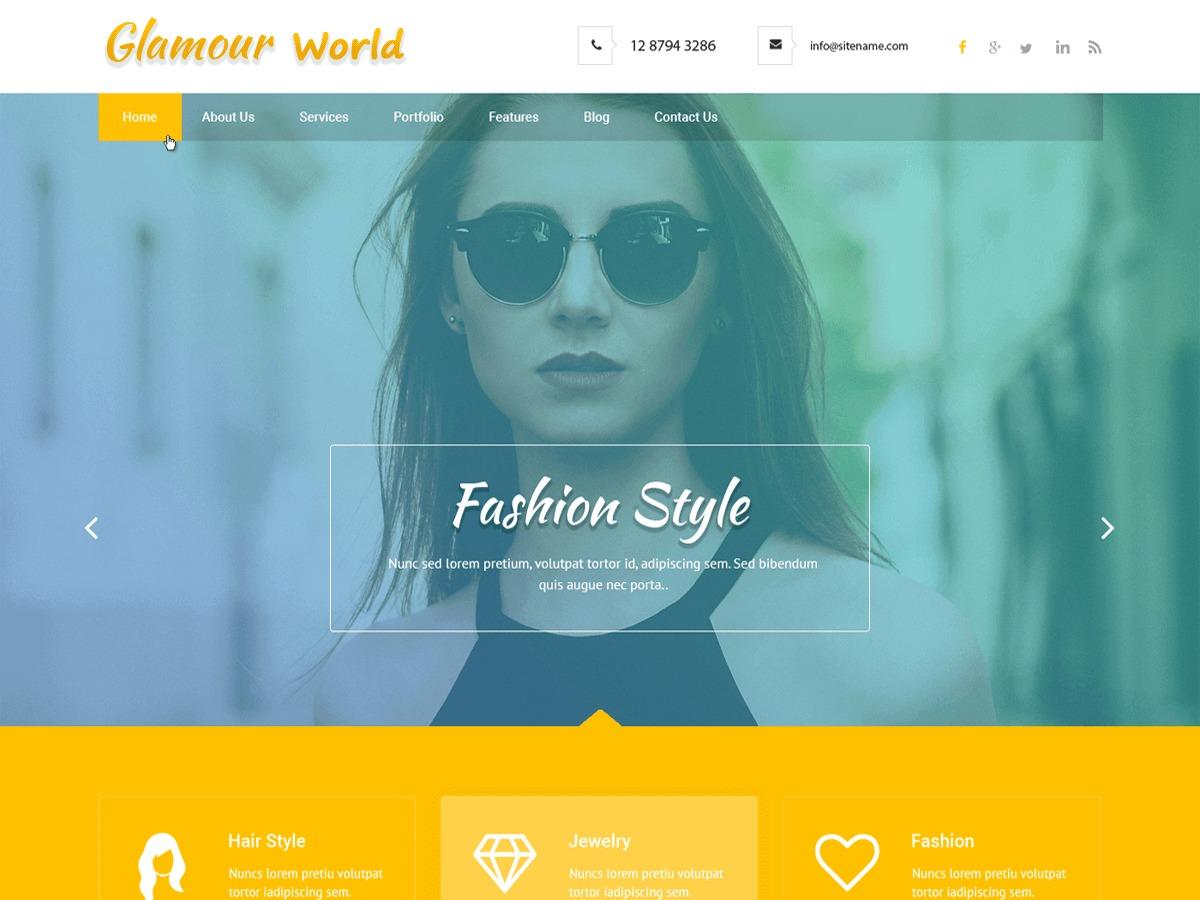 Glamour World WordPress theme image