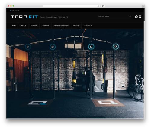 GoalKlub fitness WordPress theme - torqf1t.com