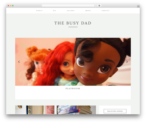 Kindred WordPress page template - thebusydad.com