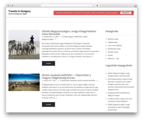MusicMacho WordPress theme design - travelsinhungary.hu
