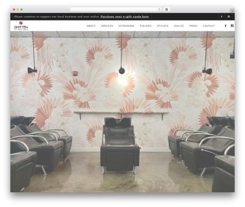 Osmosis WordPress theme - thesmittensalon.com