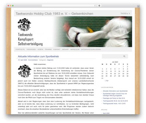 picolight WordPress theme design - thc83.de