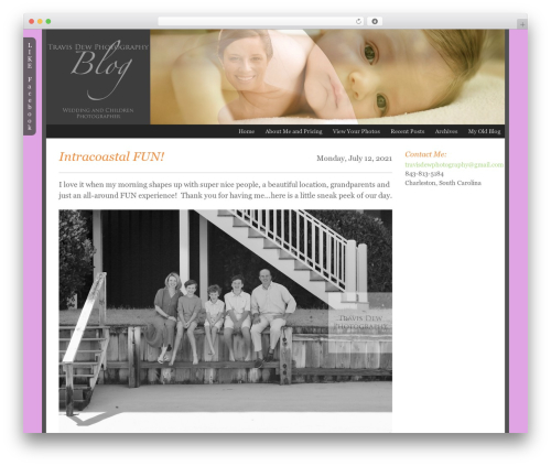 ProPhoto WordPress page template - travisdewphotography.com