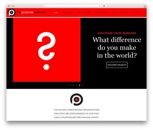 Purpose Insitute (child of wp-rootstrap) WordPress theme - thepurposeinstitute.com