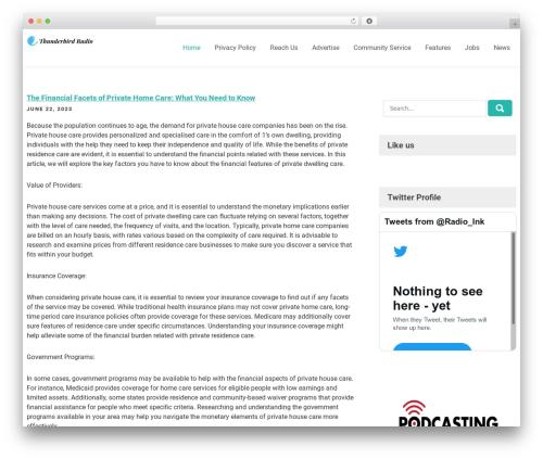 Rich Store Lite WordPress ecommerce template - thunderbirdradio.org