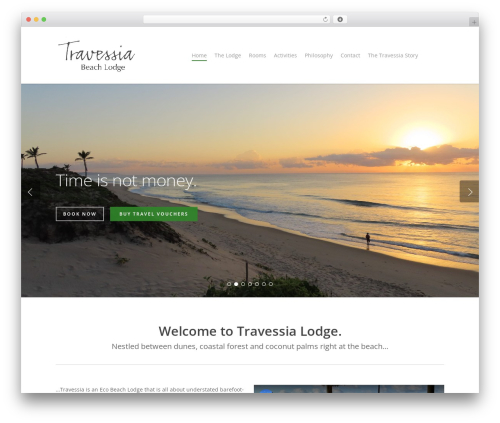 Salient WordPress theme design - travessialodge.com