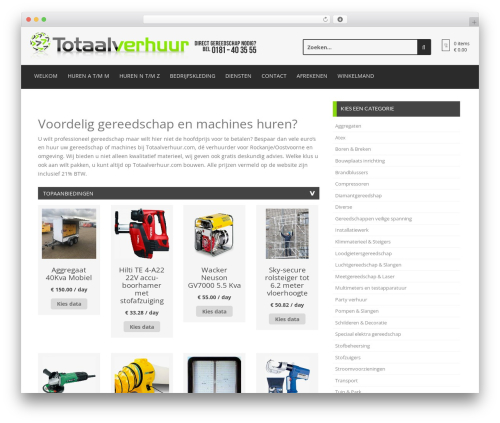 Store template WordPress free - totaalverhuur.com