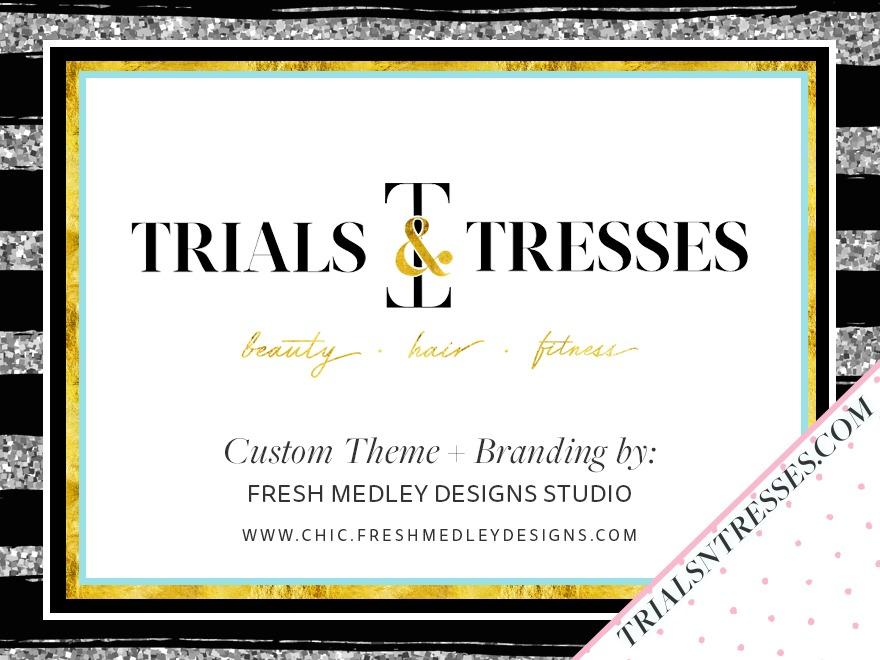 Trials N Tresses Custom Theme WordPress blog theme