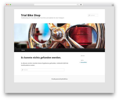 Twenty Eleven best free WordPress theme - trialbikeshop.de
