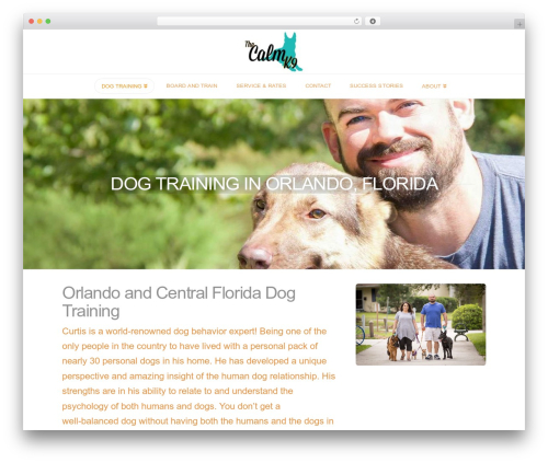 WordPress website template X - thecalmk9.com