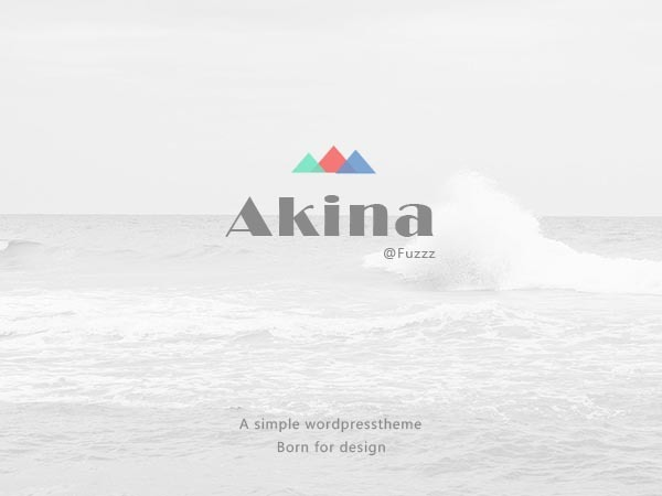 Akina WP template