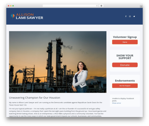 Candidate WordPress page template - allisonfortexas.com