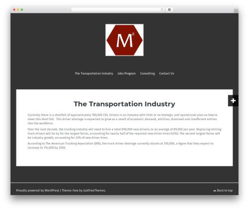 Fara template WordPress free - m2transgroup.com
