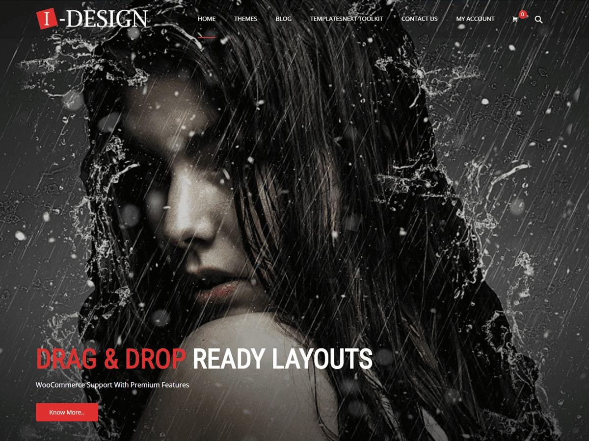 i-design WordPress portfolio template