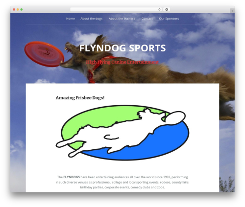 Padhang WordPress website template - flyndogsports.com