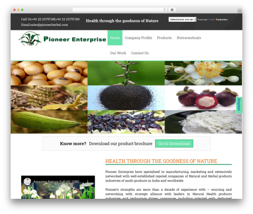 Twenty Thirteen free WordPress theme - pioneerherbal.com