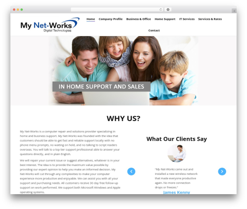 WP template The7 - mynetworksllc.com
