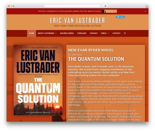 GeneratePress WordPress theme design - ericvanlustbader.com