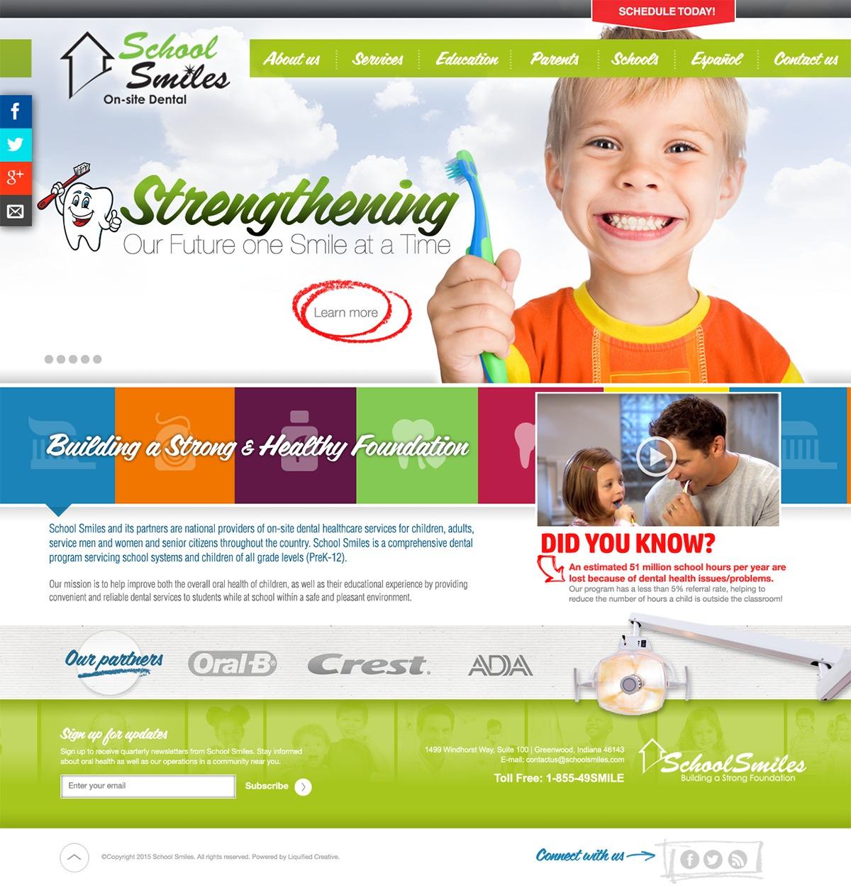 Ultra - School Smiles personal WordPress theme