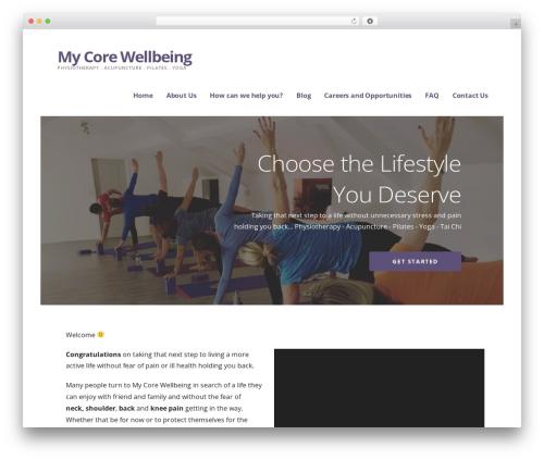 Ascension template WordPress - mycorewellbeing.com