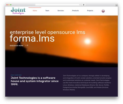Nanosoft WordPress theme - joint-tech.com