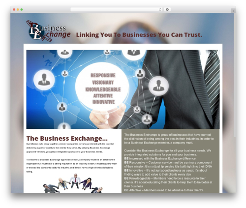 Subway business WordPress theme - be-xchange.com
