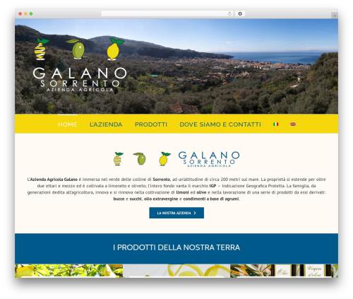 Avada WordPress theme - aziendaagricolagalano.com