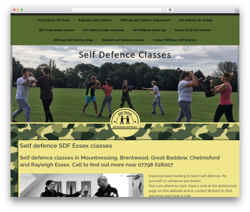 bizzy gym WordPress theme - selfdefenceandfitness.com