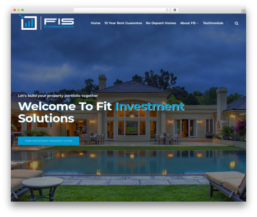 Pitch WordPress page template - fitinvestmentsolutions.com